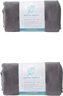 Active Paisley Yoga Mat Towel- Super-Absorbent Microfiber Soft Suede, Quick Drying, Non-Slip for Hot Bikram Yoga, Pilates,...