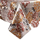 YADA Heavy Duty Premium Gold Vinyl Tablecloth,Wipeable Table Cover for Outdoor and Indoor, Used in Kitchen, Dining Room, Picnics and Parties, Water-Proof, Oil-Proof(C, 54''X54'' Inch Square)