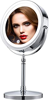 IBRIGHTSO Professional Lighted Makeup Mirror 7 Inches 2-Sided 1X/7X Magnifying Vanity Mirror with Light Touch Switch Adjus...