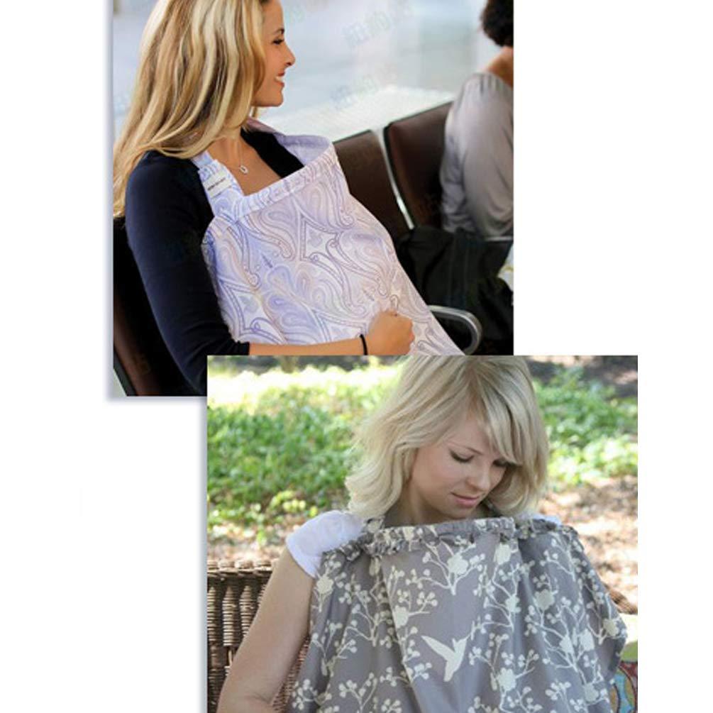 Zmmyr Cotton Breastfeeding Towel Nursing Cover Lactation Towels Baby Car Seat Canopy Cover Little Fish