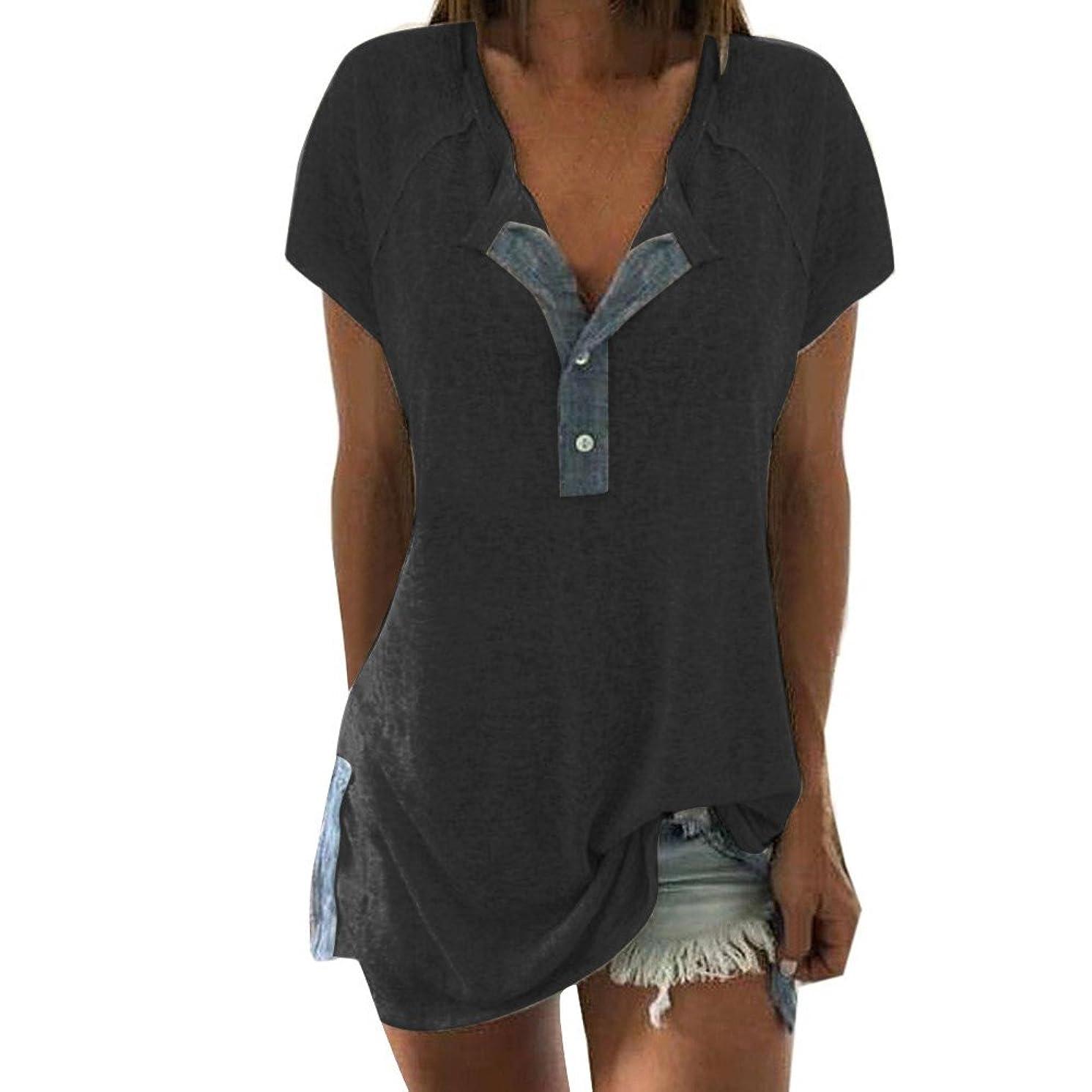 AOJIAN T Shirt Women Short Sleeve Shirts Blouse Tanks Vest Tops