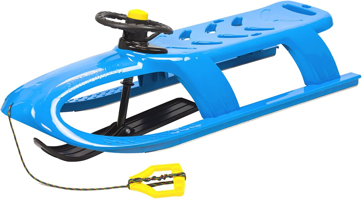 2 seater BULLET CONTROL steering sledge, in bluee colour