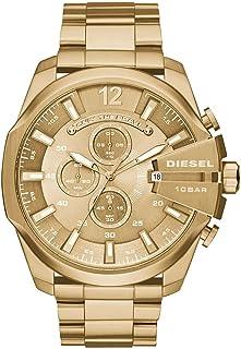 Diesel Mega Chief Men's Gold Dial Stainless Steel Analog Watch - DZ4360