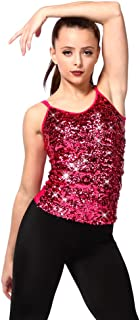 Sparkly Sequin Tank Top Women's Tops