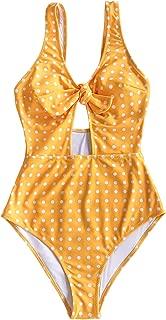 Women's Sweet Honey Bowknot One-Piece Swimsuit Beach Swimwear