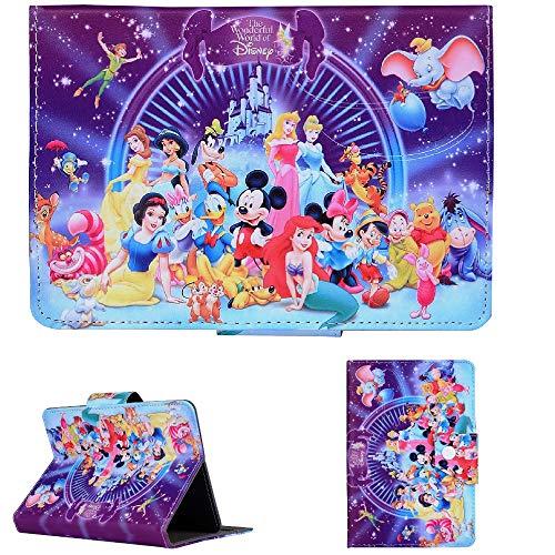 Disney Boys & Girls ~ Tablet Cases for Kids Tab 7' 8' 9.7' 10.1 Inch ~ New Cover ~ (Universal 9.7' (9.7' Inch), Wonderful Disney World)