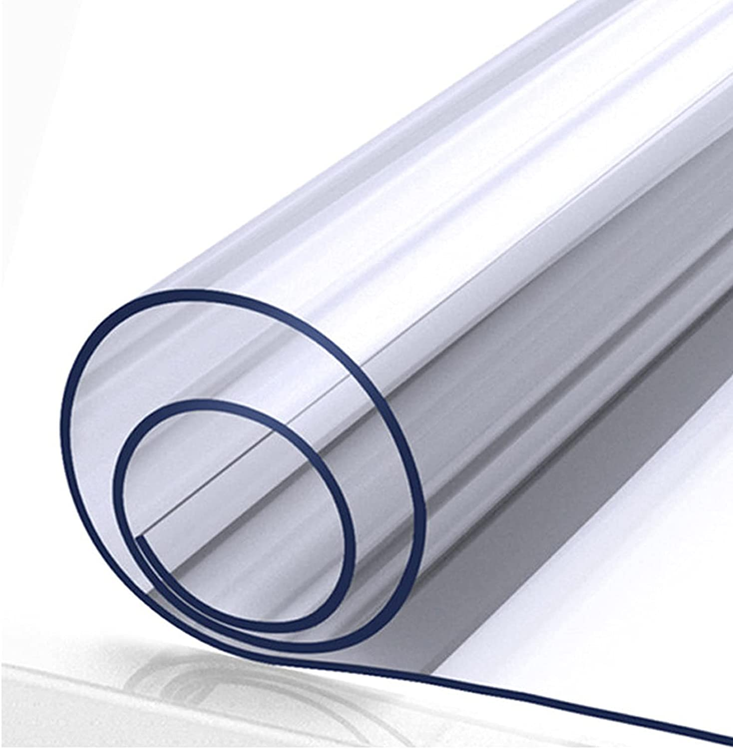 GXGX 1.5mm Thick Clear Plastic Tablecloth Cover Desk Free shipping New Spring new work one after another Rectangular