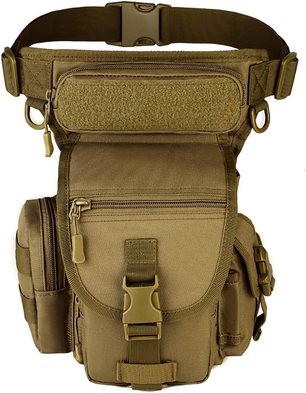 Men's Tactical Military Waist Bag Outdoor Fishing Camping Riding Hiking Camouflage Tactical Bag Zipper Pocket