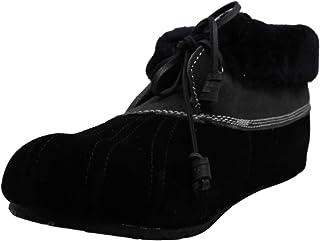 حذاء Sperry نسائي Emory من الجلد السويدي المغلق من الأمام مع سحب، أسود، مقاس 7. 0