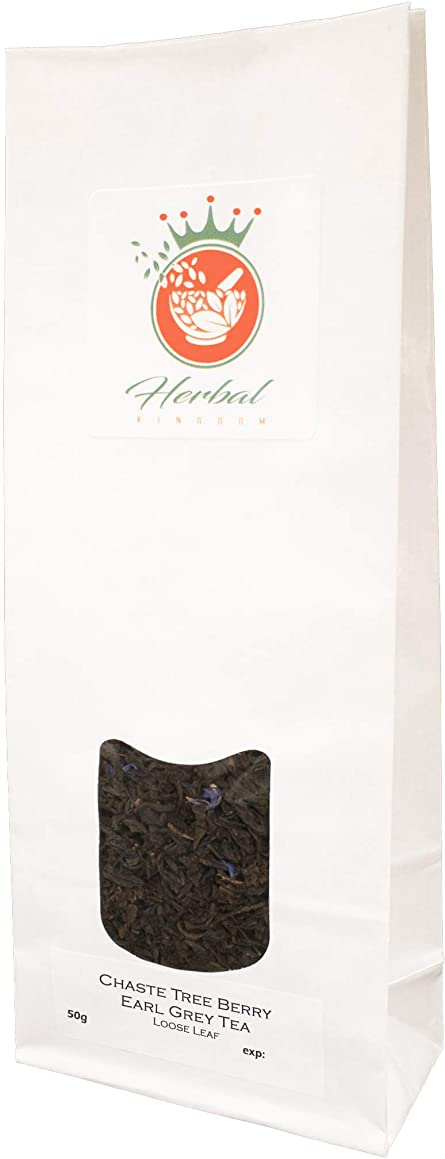 Chaste Tree Berry and Earl Grey Loose Leaf Herbal Tea (50g pack)
