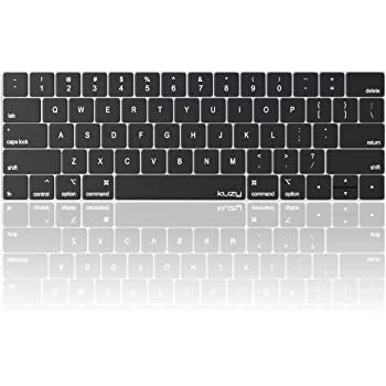 MOSISO Keyboard Cover Compatible with MacBook Pro with Touch Bar 13 and 15 inch 2019 2018 2017 2016 Model: A2159, A1989, A1990, A1706, A1707 ,Pattern Silicone Skin Protector Rainbow Mist