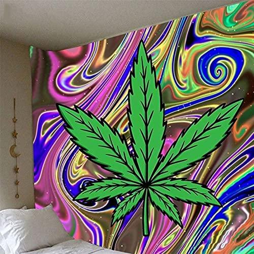 KHKJ Boho Decor Maple Leaf Impresión de Fondo Tapiz de Tela Decoración del hogar Fondo Adornos de Pared Tapiz Decoración Mural India A5 230x180cm