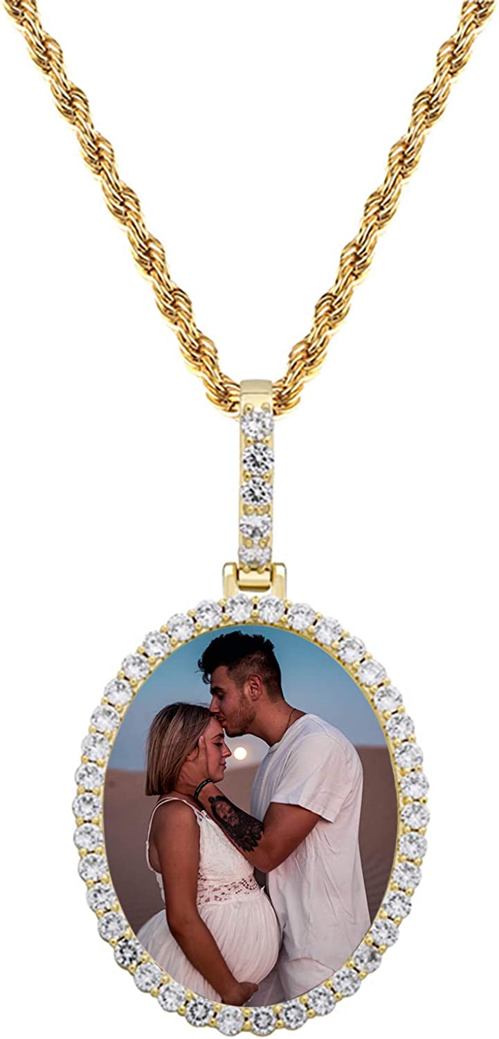 Personalized Photo Max 84% OFF Hip Hop Pendant Necklace Mother' Max 84% OFF