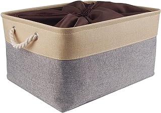 Mangata Boite de Rangement Tissu Grand, Panier Rangement rectangulaire Dressing avec poignée pour Jouets, Armoire (Pliabl...