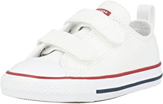 Converse Chuck Taylor All Star 2V Ox Blanc (Optical White) Cuir Bambin Formateurs Chaussures