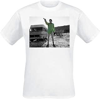 Breaking Bad Officially Licensed Merchandise Walter White Duotone T-Shirt (White)