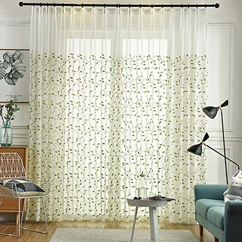 Gxi Beige Sheer Under blast Max 59% OFF sales Curtains for Living Pa 2 Panels Room Linen Voile