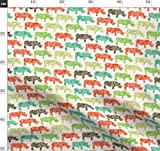 Nashorn, Nashörner Stoffe - Individuell Bedruckt von