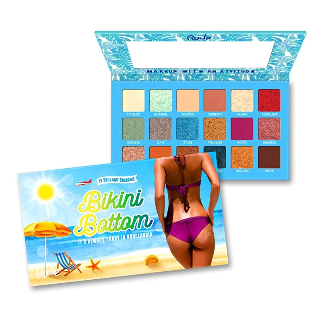レバー知的まだら(6 Pack) RUDE Bikini Bottom - 18 Eyeshadow Palette (並行輸入品)