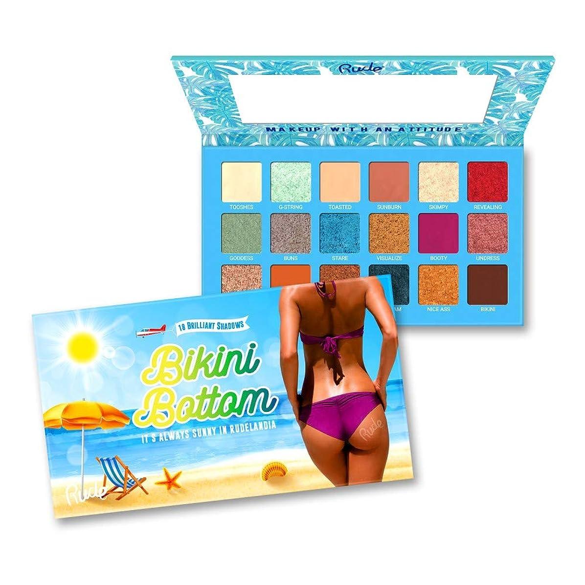 胆嚢なので精査(6 Pack) RUDE Bikini Bottom - 18 Eyeshadow Palette (並行輸入品)
