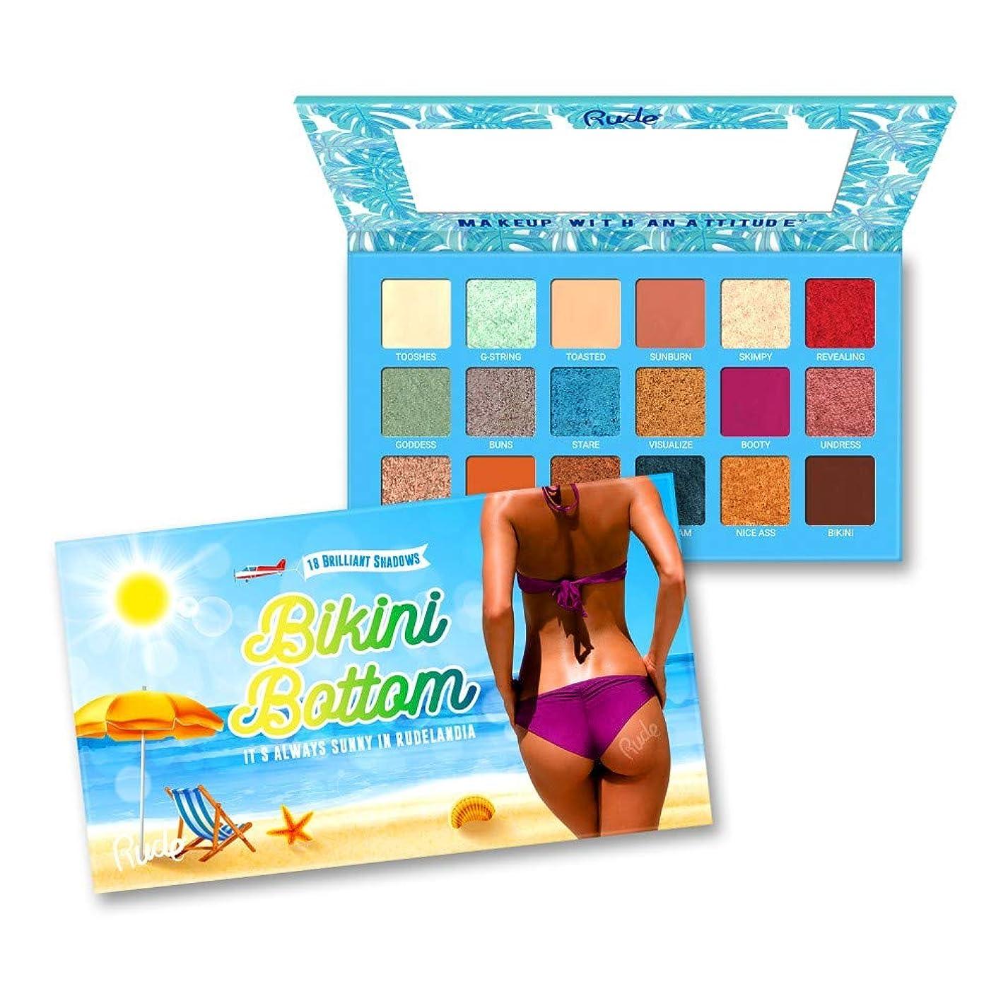 入植者カーテン残る(3 Pack) RUDE Bikini Bottom - 18 Eyeshadow Palette (並行輸入品)
