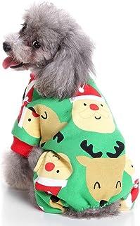 f6047e0fae97d SELMAI Pyjama de Noël en Polaire pour Chiot et Chiot et Animal Domestique  Doux Pull pour
