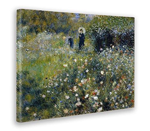 Giallobus - Bild - Druck AUF LEINWAND - Renoir - Frau MIT Sonnenschirm IN EINEM Garten - 50 x 70 cm