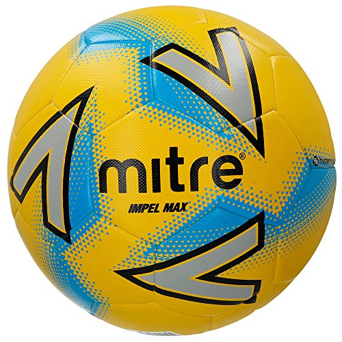 Mitre Impel Max Trainingsfußball, Yellow/Silver/Blue, 4