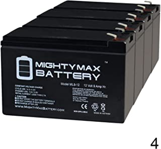 Mighty Max Battery 12V 9Ah SLA Battery Replacement for BB SH1228W - 4 Pack Brand Product