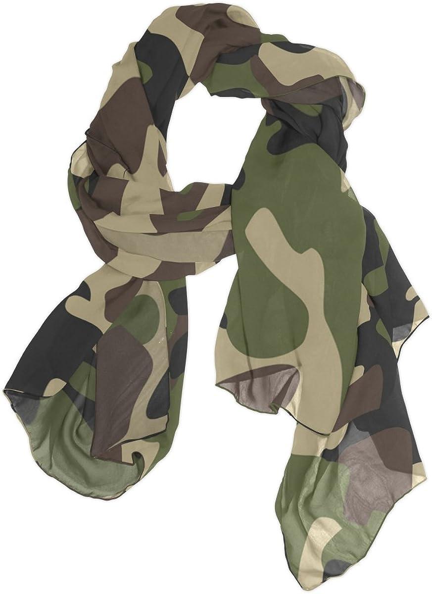 Use4 Fashion Lightweight Camouflage Military Chiffon Silk Long Scarf Shawl Wrap