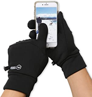 Touch Screen Running Gloves for Men & Women - Thermal Winter Glove Liners for Texting, Cycling & Driving