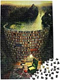 Moruska Puzzles for Adults 1000 Pieces Wooden Jigsaw Puzzle Challenge and Fun - Bookshelf Dam