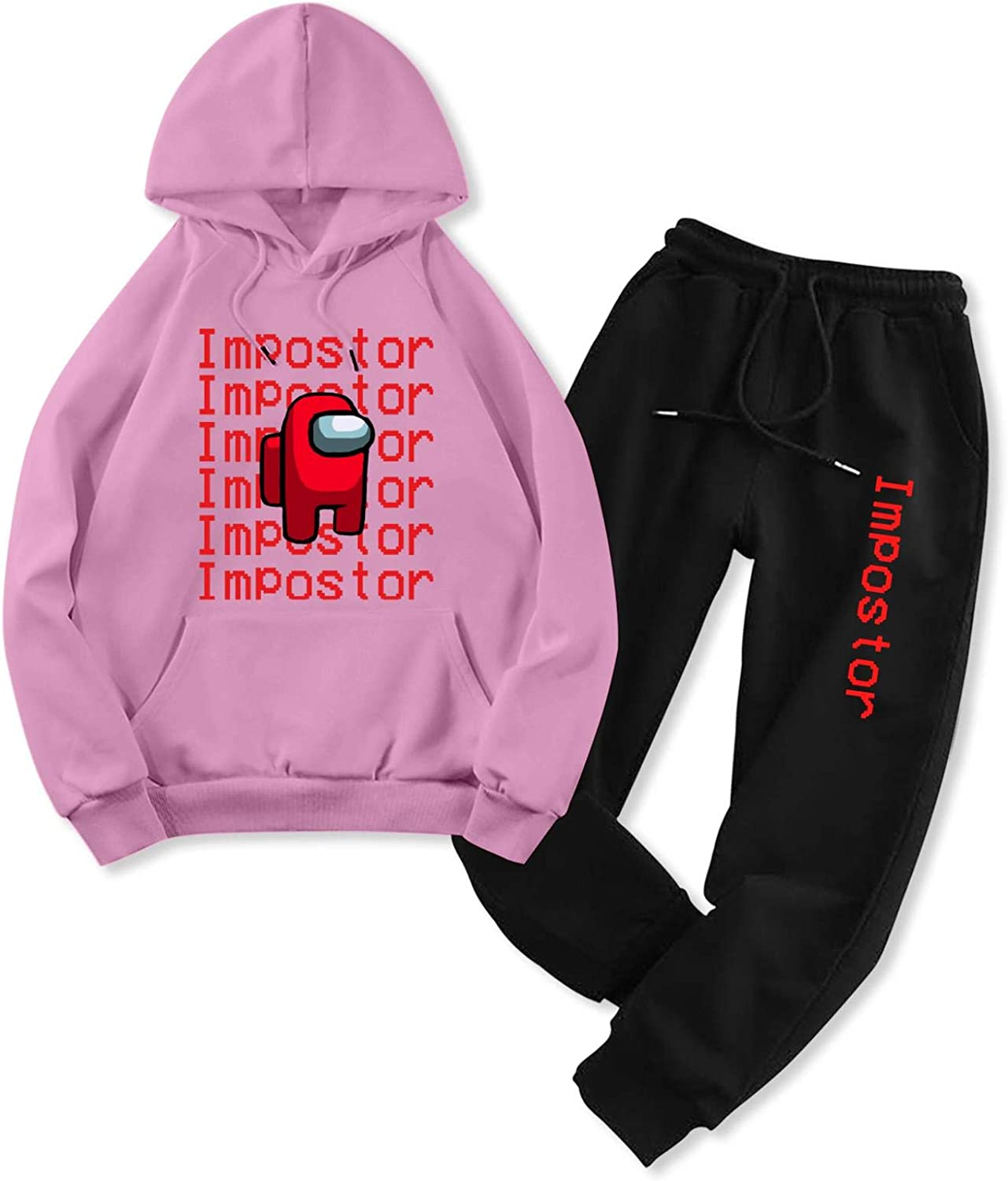 Among Us Impostor Adult Hoodie Sweater and Sweatpants Tracksuit Sets for Men Women Casual 2 Piece Sweatshirt Suit