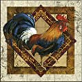 Ceramic Tile Mural - Ruler of The Roost- by Janet Stever - Kitchen backsplash/Bathroom Shower