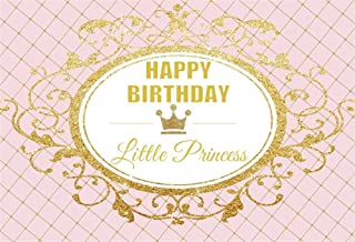 AOFOTO 5x3ft Happy Birthday Little Princess Photography Backdrop Royal Sweet Abstract Crown Background Party Decoration Banner Photo Studio Props Infant Kid Newborn Baby Girl Portrait Vinyl Wallpaper