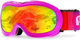 c87209e6e8b4 picador Kids Ski Goggles Excellent Impact Resistance Anti-Fog Lens 100% UV  Protection Boys