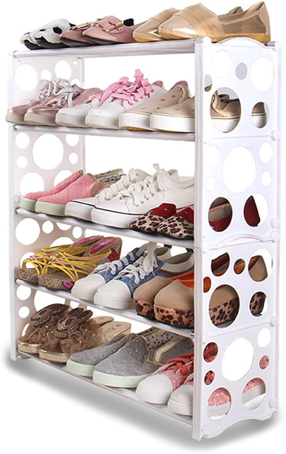 Plastic,5 Layers,Fresh and Fashionable, Easy to Install, Dustproof, Stable and Firm, Large Storage Space, 3 colors, 2 Styles, Simple and Creative Plastic shoes Cabinet.