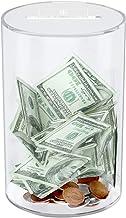 NIUBEE Clear Piggy Bank for Boys Girls Kids Adult Gift, Unopenable Acrylic Saving Money Jar for Coin Cash Bills (Medium)
