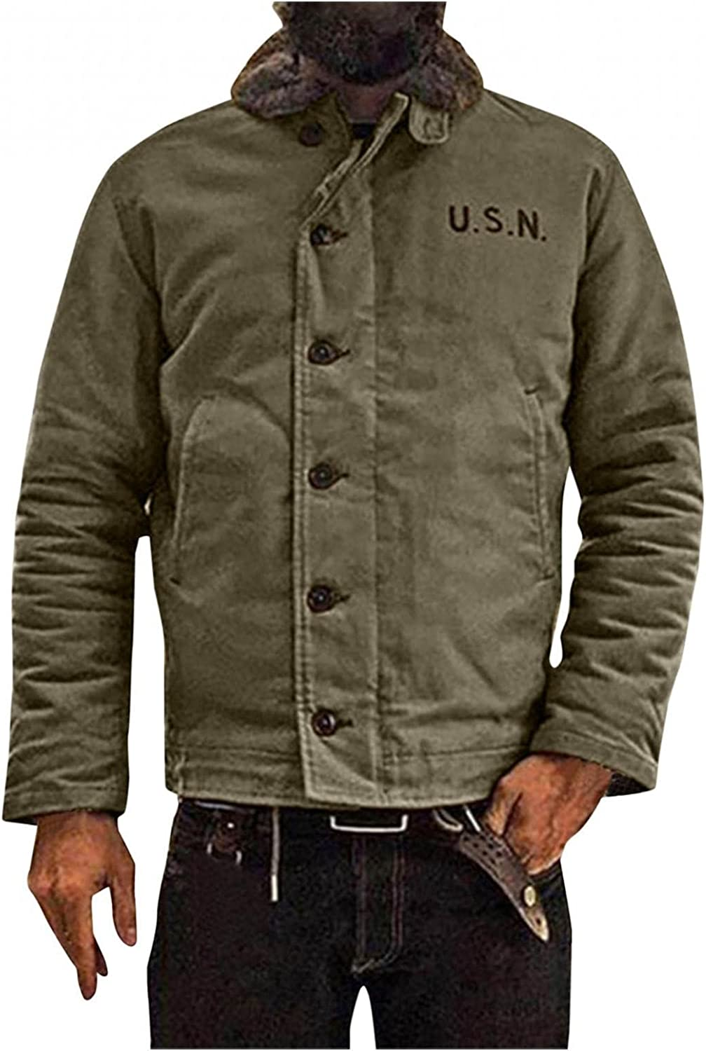FUNEY Unisex Mens Fleece Sherpa Fur Lined Quilted Check Thermal Shirts Outdoor Vintage Long Sleeve Button Down Shirt Jackets