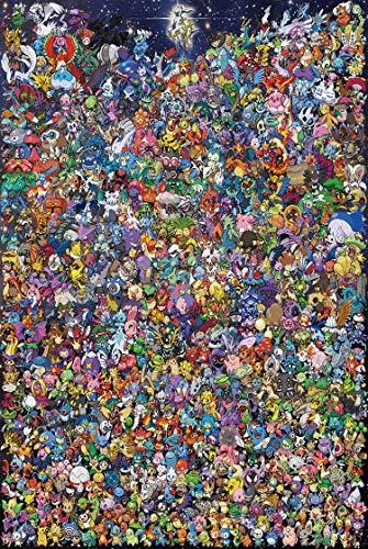 Wsjdmm Pokemon Puzzles, Puzzles aus Holz 1000 Stück, Pokemon, Foto von der Elf, Erwachsene kreative Geschenk-Dekomprimierung Puzzlen Cartoon Lernspielzeug for Kinder von Studierenden