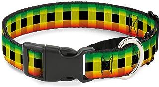"Buckle Down Buffalo Plaid Rasta Martingale Dog Collar 1"" Wide - Fits 15-26"" Neck - Large MGC-W30257-L"
