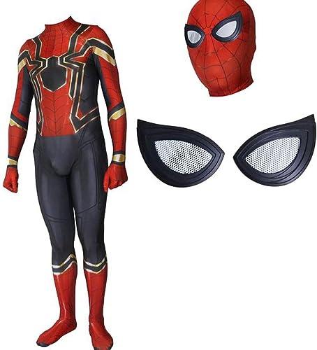 Morph33 Iron Spider-Man Rehabilitation 3 Costume de Cosplay Collants élastiques Costumes de Jeu Film Movie Prop ( Couleur   noir-2 , Taille   L )