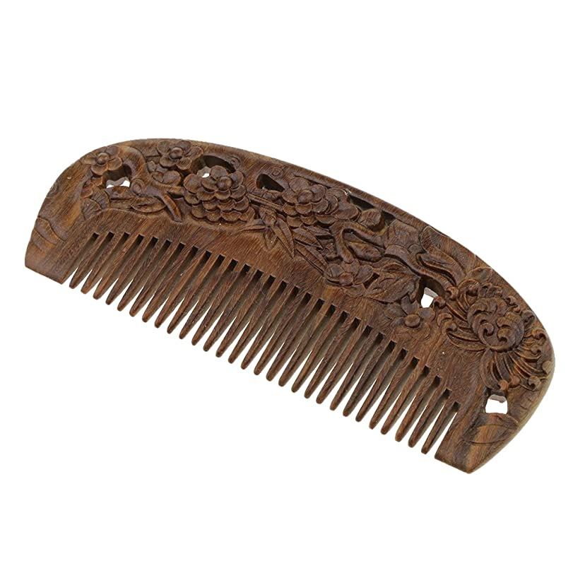 過度の給料滝T TOOYFUL 木製櫛 木製コーム ウッドコーム ワイド歯 ヘアブラシ 頭皮マッサージ 静電防止 全2種類 - #2