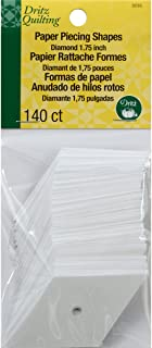 Dritz 3235 Paper Piecing Shapes, Diamond, 1-3/4-Inch (140-Count)
