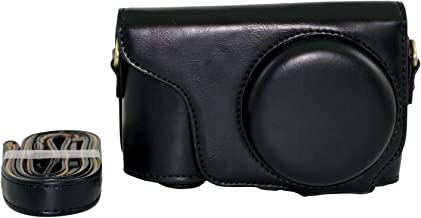 Protective PU Leather Camera Case Bag for Samsung Galaxy Camera 2 EK-GC200 GC200 with Strap and Screen Protector - Black