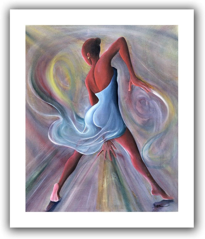 Art Wall Ikahl Beckford bluee Dress Unwrapped Canvas, Flat, 22x18