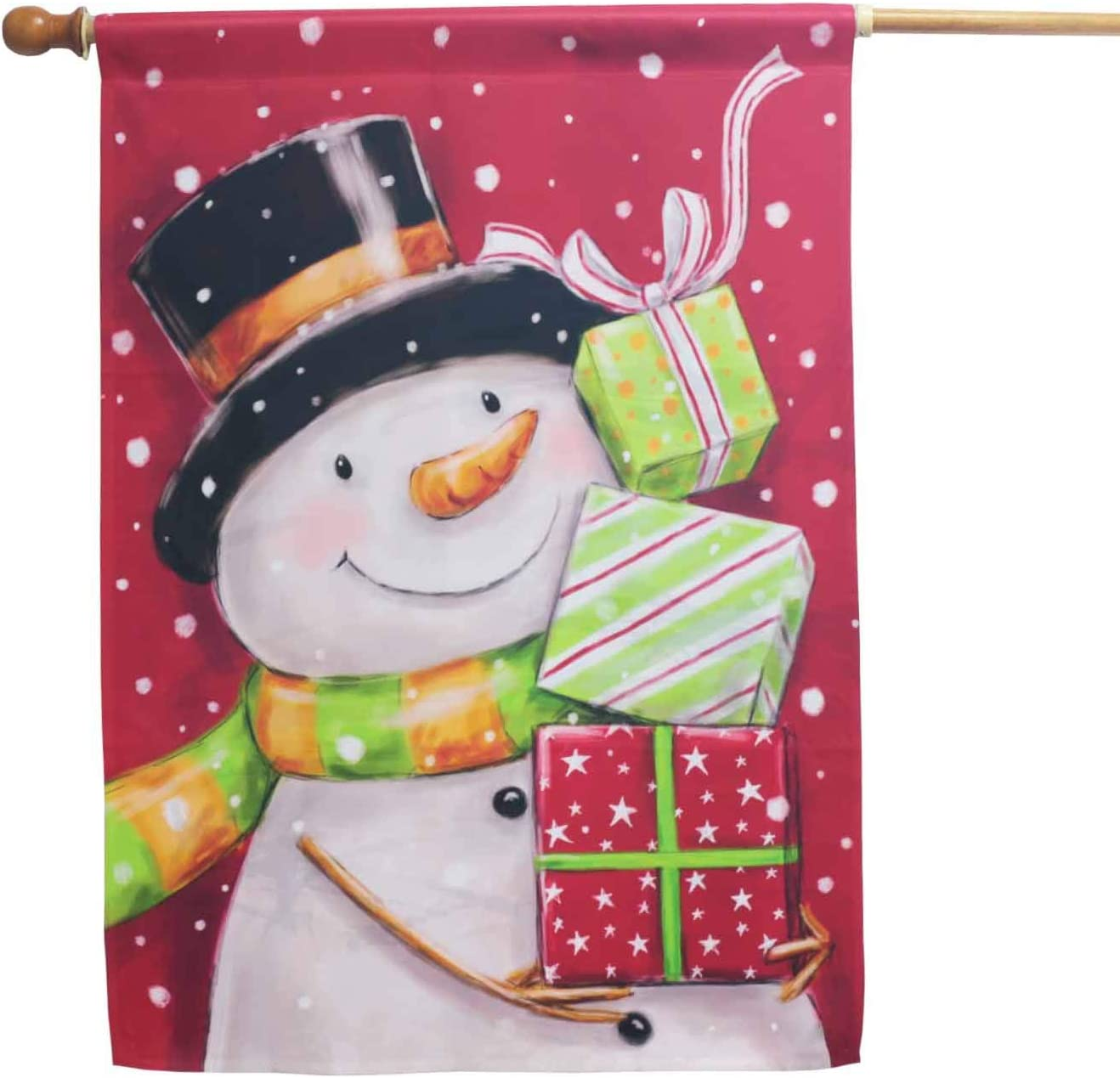 Super popular specialty store LAYOER Winter Garden Sales results No. 1 Flag Snowman Gift Year H Snow Christmas New