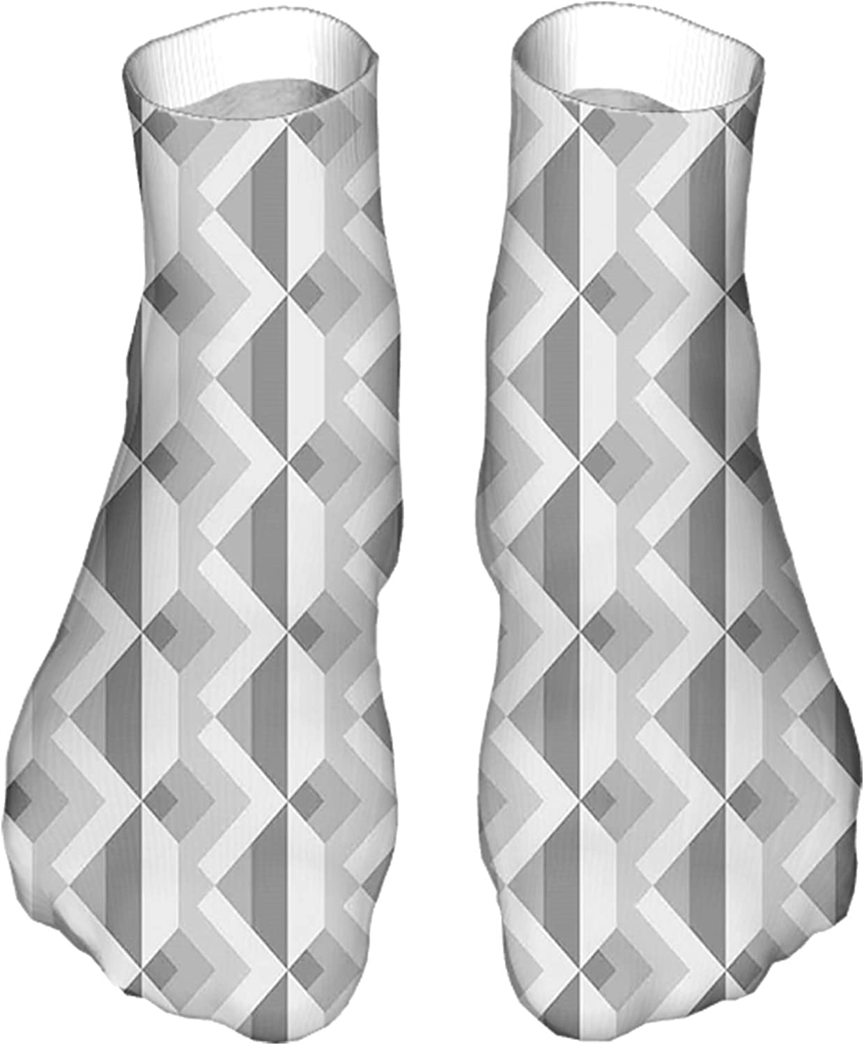 Men's and Women's Funny Casual Socks Triangles with Parallel Lines in Dark and Retro Minimalist
