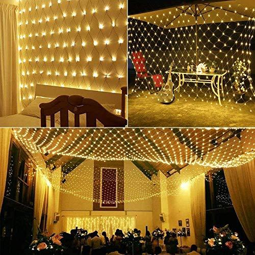 TTZZ LED Net Lights 100 LED 4,9Ft X 4.9Ft Weihnachten Net Lights Fairy Light Net Stecker in Hängende Lichter Für Hochzeit Hintergrund Büsche Im Freien Innen