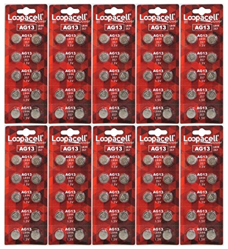 100 Pack LOOPACELL LR44 AG13 357 L1154 A76 Button-Cell Batteries